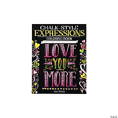 Chalk Style Expressions Adult Coloring Book