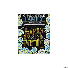 Chalk Style Family Adult Coloring Book