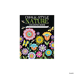 Chalk Style Nature Adult Coloring Book