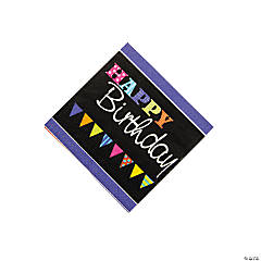 Chalkboard Birthday Beverage Napkins
