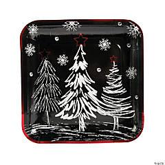 Chalkboard Christmas Paper Dinner Plates
