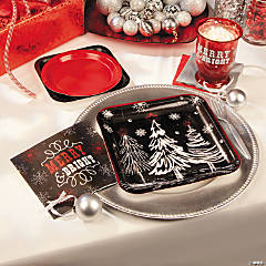 Chalkboard Christmas Party Supplies