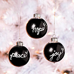 Chalkboard Ornament Idea