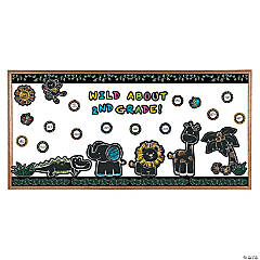 Chalkboard Safari Animal Bulletin Board Set