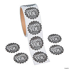Chalkboard Thank You Stickers