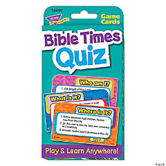 Challenge Cards® Bible Times Quiz - 56 cards per pack, 6 packs
