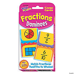 Challenge Cards® Fractions Dominoes - 56 cards per pack, 12 packs