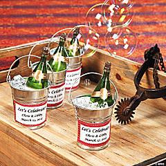 Champagne Bubble Bottle Buckets Idea