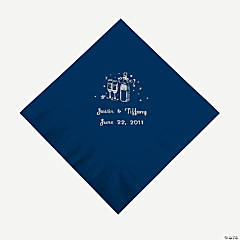 Champagne Luncheon Napkins - Navy