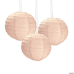 Champagne Mini Paper Hanging Lanterns