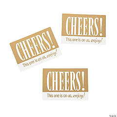 Cheers Gold & White Drink Tickets