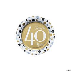 Cheers to 40 Years Dessert Plates