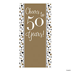 Cheers to 50 Years Backdrop Banner