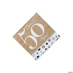 Cheers to 50 Years Beverage Napkins
