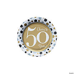 Cheers to 50 Years Paper Dessert Plates