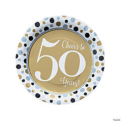 Cheers to 50 Years Paper Dinner Plates
