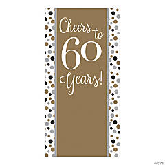 Cheers to 60 Years Backdrop Banner