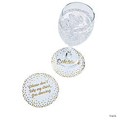 Cheers White with Gold Coasters