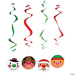Cheery Christmas Hanging Swirls