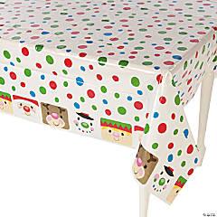 Cheery Christmas Plastic Tablecloth