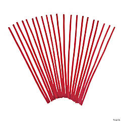 Chenille Stems - Red