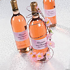 Cherry Blossom Wine Bottle Favor Idea