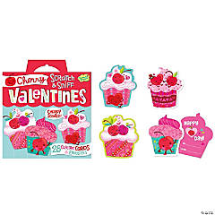 Cherry Cupcake Scratch & Sniff Super Fun Pack Valentines