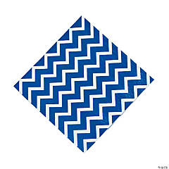 Chevron Blue Luncheon Napkins