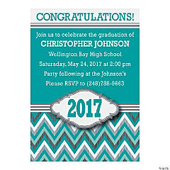 2015 Chevron Personalized Graduation Invitations