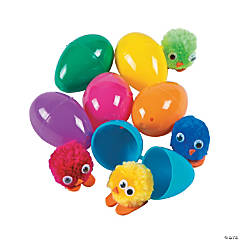 Chick-Filled Plastic Easter Eggs - 24 Pc.