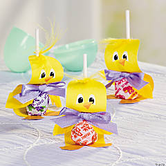 Chick Lollipop Easter Craft Idea