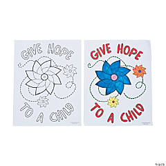 Child Abuse Awareness Coloring Sheets