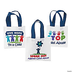 Child Abuse Awareness Mini Tote Bags