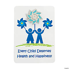 Child Abuse Awareness Pins on Card