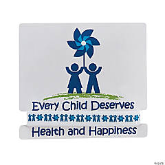 Child Abuse Awareness Rubber Bracelet with Card