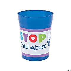 Child Abuse Prevention Plastic Tumblers