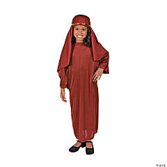 Child Maroon Nativity Gown