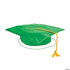 Child's Green Mortar Board Hat