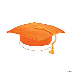 Child's Orange Mortar Board Hat