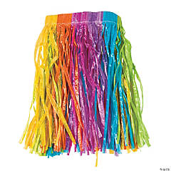 Child's Rainbow Hula Skirt
