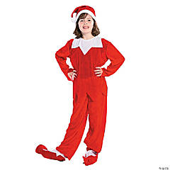 Child's Red & White Elf Costume