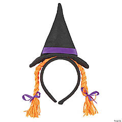 Child's Witch Hat Headband with Braids