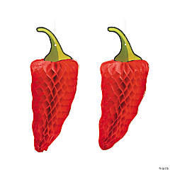 Chili Pepper Tissue Decorations