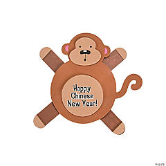 Chinese New Year Monkey Craft Stick Craft Kit