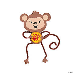 Chinese New Year Monkey Magnet Craft Kit