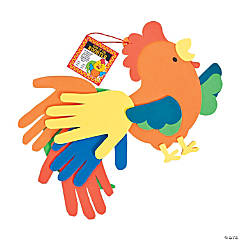 Chinese New Year Rooster Handprint Craft Kit