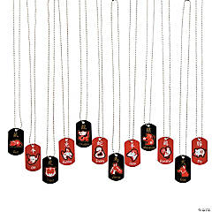 Chinese Zodiac Dog Tag Necklaces