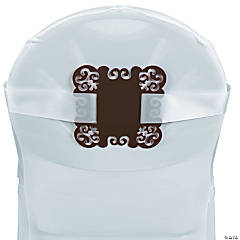 Chocolate Brown Chair Decorations