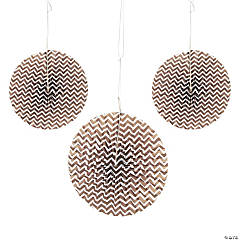 Chocolate Brown Chevron Hanging Fans