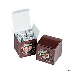 Chocolate Brown Custom Photo Gift Boxes